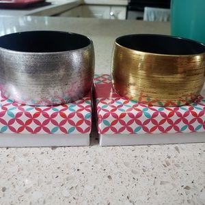 Gold and Silver Posh bracelets